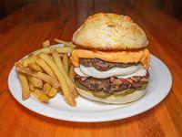 Bonnie's burger con papas fritas