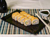 Sake furai roll × 10 piezas