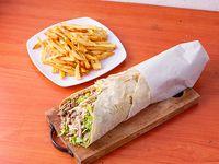 Combo 7 - Shawarmaal pan a elección 32cm + porción de papas fritas