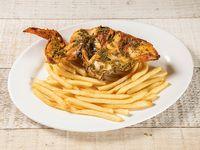 Pollo asado pechuga ala con acompañamiento + Soda