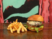 Blue Burger + Papas
