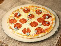 Pizzeta calabresa azul