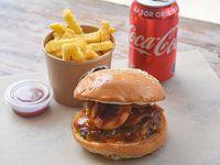 Promoción - Burger bbq hit + papas fritas +  bebida