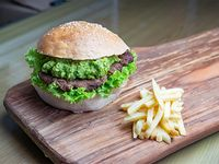 Mix burger green con papas fritas