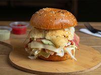 Hamburguesa de pollo a la plancha