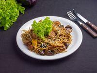 Wok con vegetales salteados