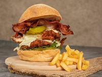 Big Chicken Burger + Papas Francesa