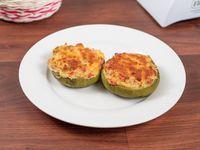 Zapallitos rellenos de verdura con jamón y queso (2 unidades)