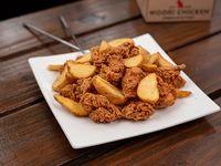 Caja Regular - Pollo frito crispy con papas fritas