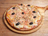 Pizza especial de camarones