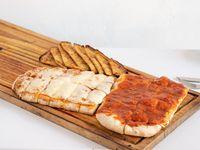 Promo - pizza muzzarella + pizza + faina