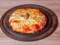 Pizza con muzzarella (personal)