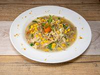 8 - Sopa de choclo con pollo