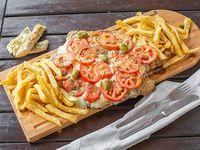 Milapizza napolitana con papas fritas (para dos personas)