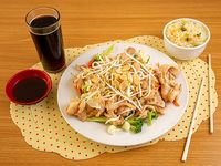 Promo 18 - Pollo chiten con arroz chaufan + bebida 350 cc