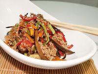 Wok de vegetales con arroz