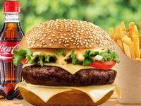 Combo Hamburguesa con Queso Derretido