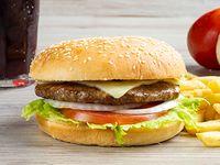 Hamburguesa Carne Tipo Premium Sencilla al Carbón en Combo