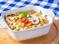 Lasagna con Berenjena, Pimentón, Champiñon y Zucchini