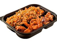 Wok Box 5 Alitas BBQ/ Pollo Teriyaki Gratis Mr. Tea Botella