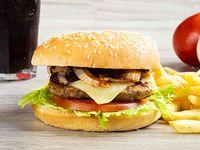 Hamburguesa Carne Sencilla con Grille en Combo