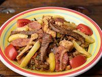 Picada carne Rib Eye, Pollo y Chorizo Parrillero