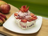 Fresas con Crema y Helado