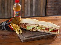Combo - Pechuga Blog + papas fritas + bebida 250 ml