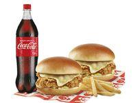 2 Sándwich Kokoriko + 2 Papas Francesas + Bebida