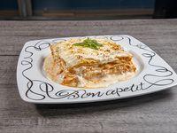 Lasagna con pollo gratinada