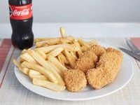 Promo 4 - Papas fritas + nuggets + refresco 250 ml