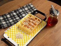 Waffle con Miel y Avena