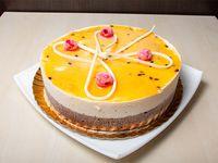 Torta mousse de maracuyá