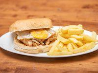 Sándwich el pobre pollo