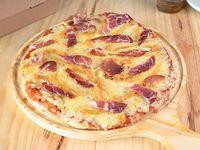 Pizzeta con cebolla caramelizada (32 cm)