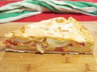 Tarta de jamón, muzzarella, tomate y huevo (porción)