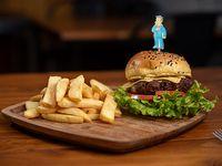 Burger Skinner + papas fritas
