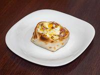 Canastita de jamón, queso y huevo