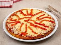 Pizzeta con muzzarella y morrón