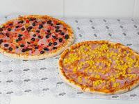 Promoción - 2 Pizzas con tres ingredientes (32 cm)