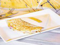 Crepe de jamón, queso y requesón
