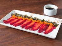 Tiradito de salmón 9 unidades