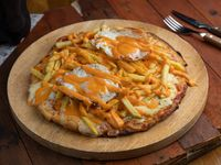 Pizzeta Papin 2 - Huevo Frito, Cheddar y Papas Fritas