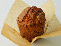 Muffin de caramelo con chips de chocolate