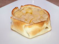 Empanada abierta de provolone