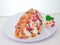 Waffle a la Crema
