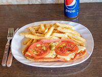 Promo - suprema napolitana con fritas + bebida