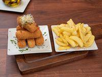 Bastones de mozzarella -8 unidades- con patatas españolas