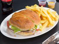 Promo 3 - Sándwich de churrasco italiano + papas fritas + bebida 250 ml
