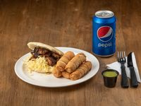 Combo - Arepa rumbera + 5 tequeños + Pepsi 500ml